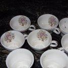 Floral Bouquet Vintage Tea Cup Set of 8 (1940's)