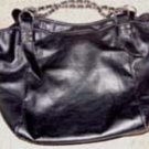 Large Black PVC Purse/Tote