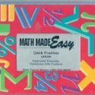 Math Made Easy: Quick Fractions QFR100 (VHS)