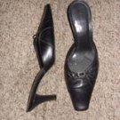 Michelle D Black Heels, Size 9 1/2M