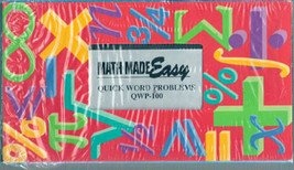Math Made Easy: Quick Word Problems QWP100 (VHS)