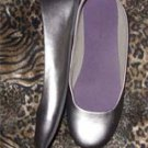 Ladies Silver Flats by Predictions, Size 8