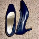 Navy Blue Heels by White Stag, Size 6 1/2