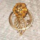 Vintage Golden Poppy Designer Brooch/Pin