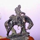 Bronze Cowboy (Wild Bill) On Horseback Sculpture