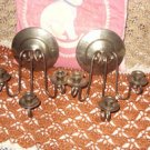 Vintage Brass Wall Sconces, 3 Candle wall Holders
