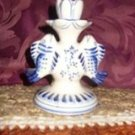 Russian (Gzhel) Candle Holder (Double Fish) Rhykil