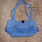 Cornflower Blue Canvas Purse