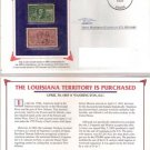 US Historical Event Stamp Set (1904 1-cent , 1953  3-cent) Louisana Purchase