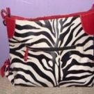 Large Zebra Print Handbag / Tote