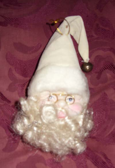 Vintage Santa Porcelain Dolls Head / Ornament