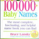 100,000 Baby Names by Bruce Lansky