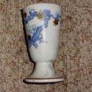 Vintage Blue Floral Pottery Vase