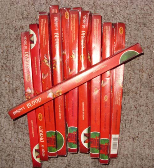 Dragons Blood Incense (Life, Luck, prosperity)