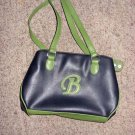 "Green & Black PVC Letter Purse ""Letter  B"""