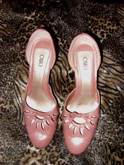 Light Brown Leather Ladies Heels by CATO, Size 9 1/2