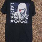 Lady Gaga Art print Black tee Shirt, Size M