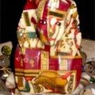 King Tut Egyptian Motif Patchwork Bust