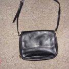 Black Leather Shoulder Bag from Liz Clarborne