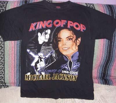Michael Jackson Black Tribute Tee Shirt, Size M