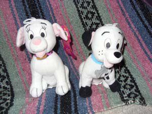 101 Dalmations Stuffed Toy Set By Applause