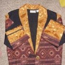 Aztec or Southwestern Print Gold trimmed Jacket by Flashback, Size M