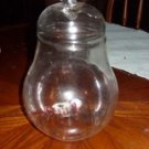 The Perfect Pear cookie Jar, Pressed Glass
