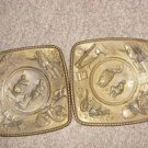Antique Brass Wall Plaques, Elpec - England.