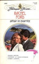 Affair in Biarritz by Rachel Ford (Harlequin Romance)