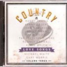 Country Love Songs, Volume 2 & 3 (Various Artist Music Cd)