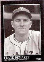 Frank Demaree, 1939 New York Giants, Card 212 (Sporting News 1991)