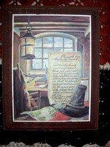 Pilgrim Wooden Plaque Plymouth 1829 Mayflower Compact & Jefferson