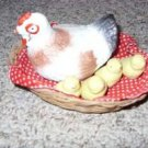 Mother Hen and Chicks in Basket