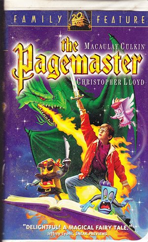 The Pagemaster (VHS Movie) Macaulay Colkin, Christopher Lloyd