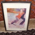 "Bernard Fuchs Limited Edition Print  ""Figure Skaters"""
