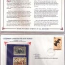 Columbus Lands In New World Stamp Set ( 1-cent 1893 , 29-cent 1992)