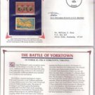 Battle of Yorktown Postage Stamp Set (1931-2 cent stamp , 1981 18-cent stamp)
