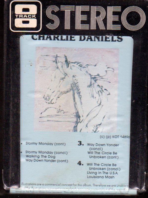 Charlie Daniels- Live- 1980 Koala Record- SEALED-NEW -8 Track