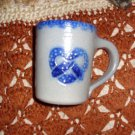 Eldreth Salt Glazed Pottery Mug, Hand Signed 2003