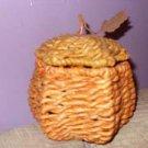 Hemp Woven Acorn Trinket Box