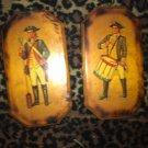 Vintage Colonial Soldier Plaques
