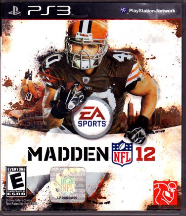 Madden 12 Playstation 3 Video Game - COMPLETE  (combine shipping)