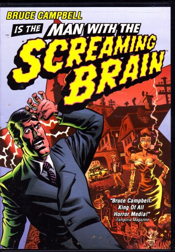 Man With The Screaming Brain DVD, 2005 - COMPLETE * combined shipping