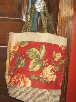 Handmade Hobo Bag Purse Hobo Bag Handle Floral   #01
