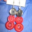 Antique Button Earrings Handmade Old button Jewelry  #060