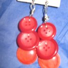Antique Button Earrings Handmade Old button Jewelry  #063