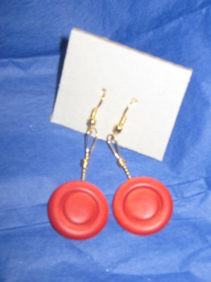Antique Button Earrings Handmade Old button Jewelry  #069