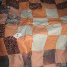 Handmade Baby Quilt Patchwork Nursing, Carseat Blanket  #012
