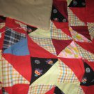 Handmade Baby Quilt Patchwork Nursing, Carseat Blanket #015