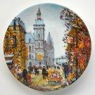 Limoges Louis Dali Le Marche Aux Fleurs Et la Conciergerie Porcelain Plate